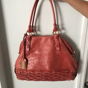 Red Badgley Mischka boho bag